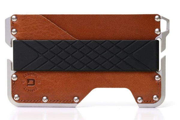 best tactical wallet Dango D01 Dapper EDC Wallet - Made in USA - Genuine Leather, CNC Alum, RFID Blocking