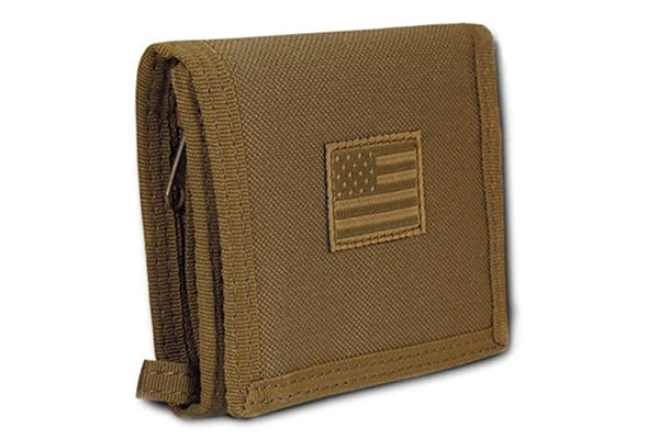 best tactical wallet USA US American Flag Tactical Patriotic Military Trifold Wallet Money Holder