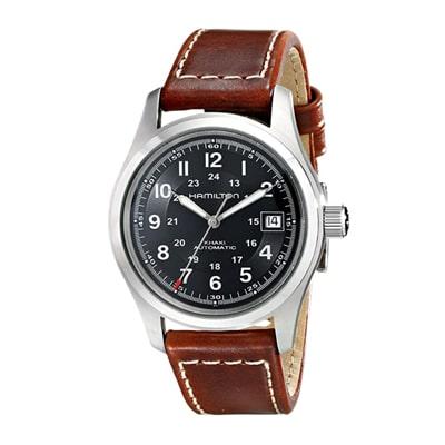 Best tactical watches - Hamilton Men's HML-H70455533 Khaki Field Black Dial Watch