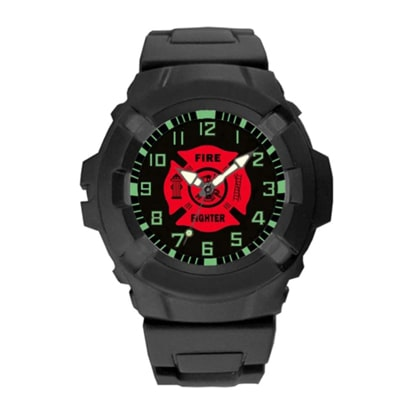 Best tactical watches - Aqua Force Firefighters Logo 47mm Diameter Quartz Watch