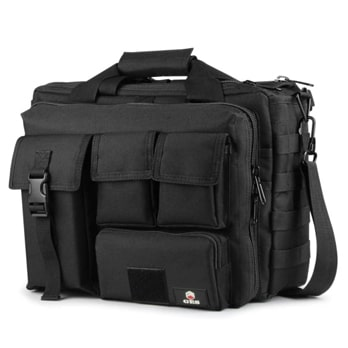 Tactical Briefcase, 17.3 Inch Men's Messenger Bag