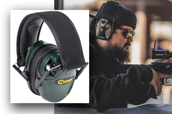 Caldwell E-Max Low Profile Electronic Hearing Protection for Shooting